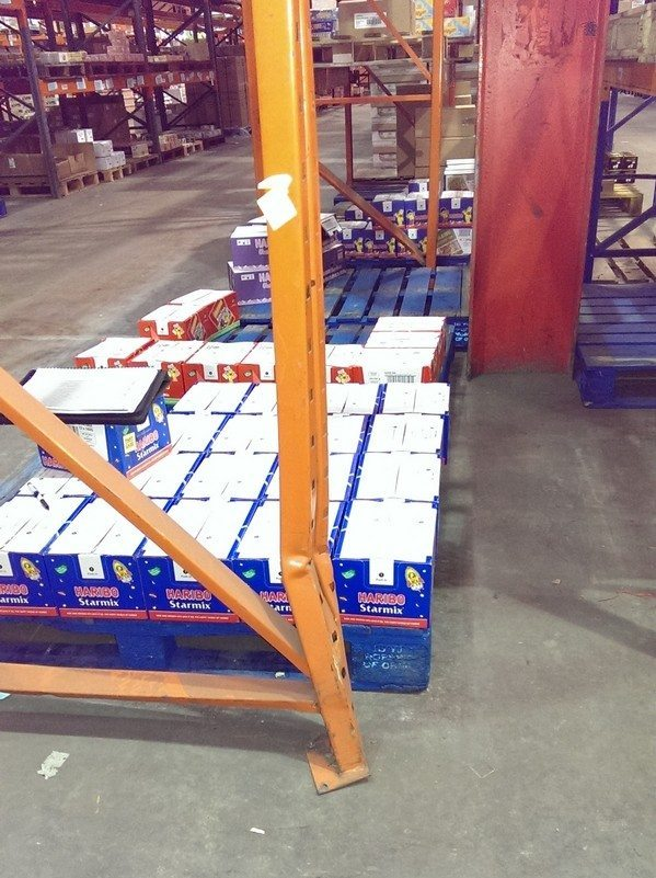 Broken pallet racking does not meet safety standards