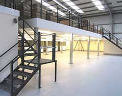 PASSHA design and build mezzanine warehouse solutions
