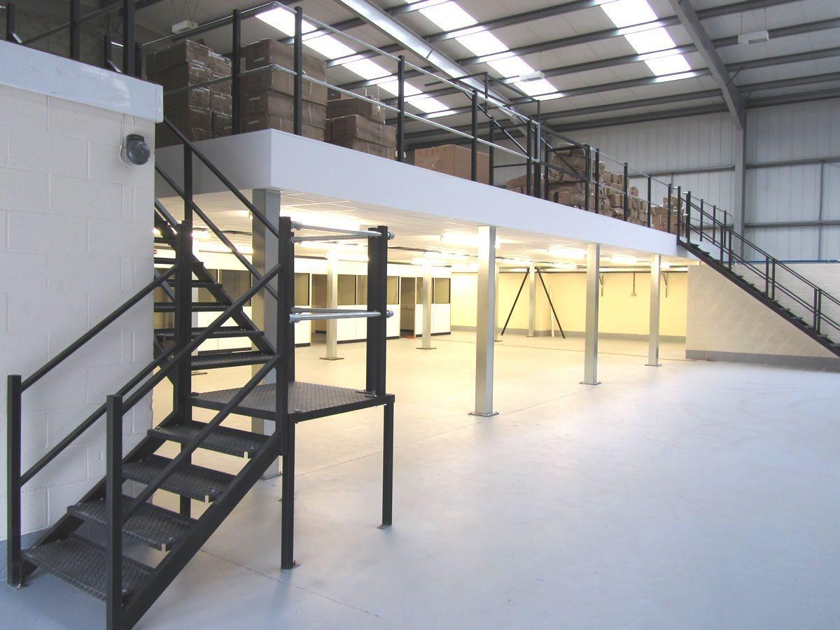 One tier fire rated mezzanine floor
